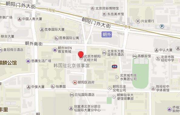 韩国驻北京领事馆地理位置