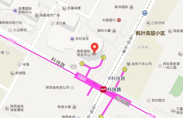 韩国驻西安大事馆地理位置