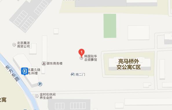 韩国驻北京大使馆地理位置